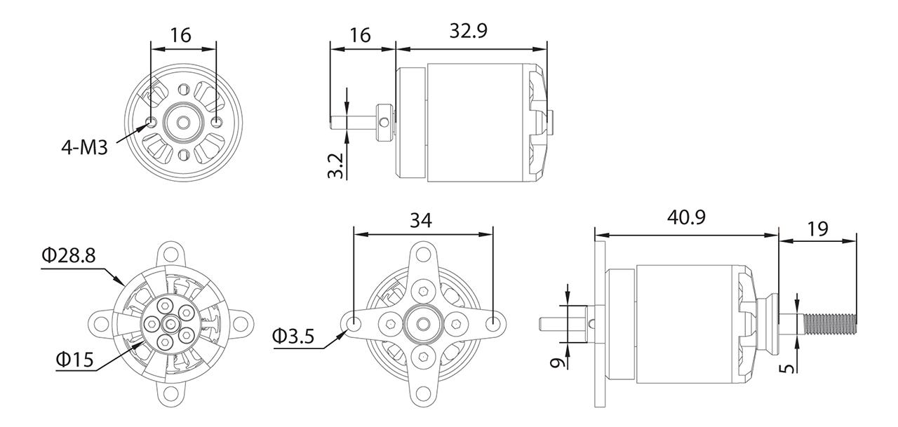 ECO2316C Dimensions