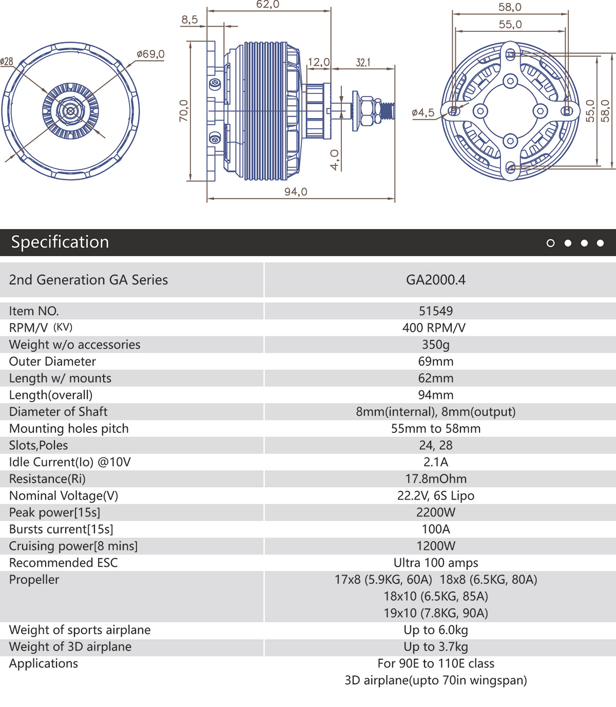 GA2000.4 Specifications