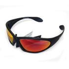 MacGregor Polarised Sunglasses Black with Red Lens