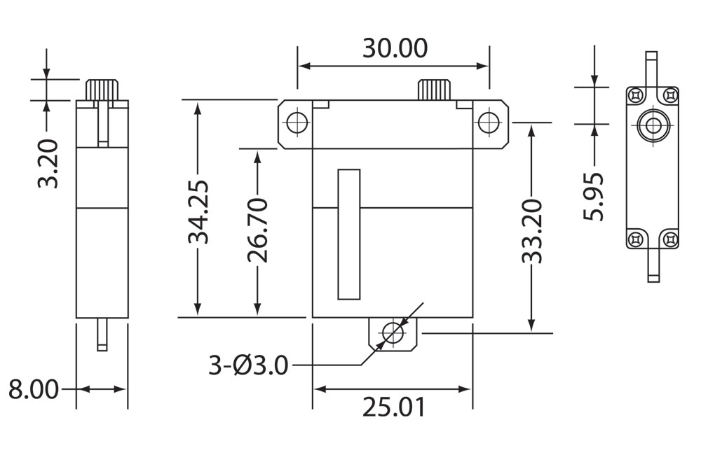MG2107WHV Servo Drawing