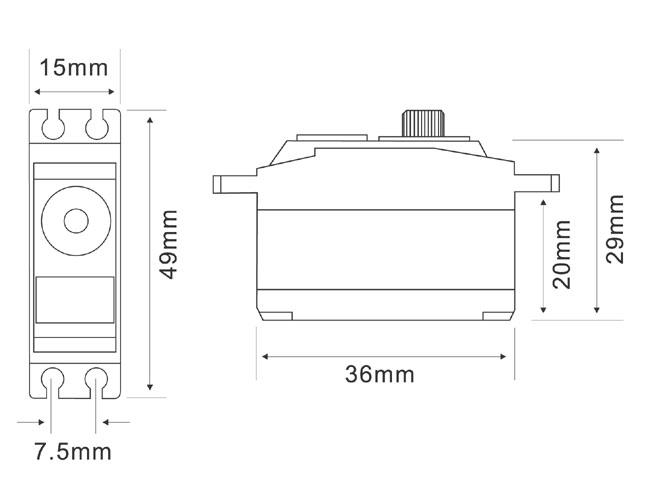 MG2607HV Servo Drawing
