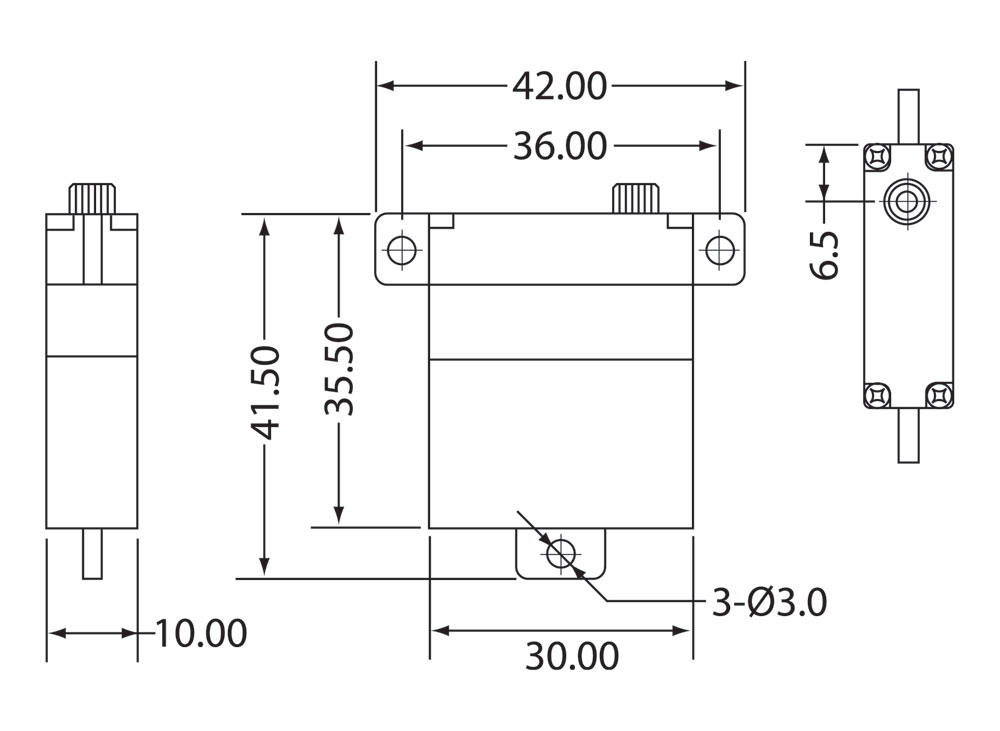MG2611WHV Servo Drawing