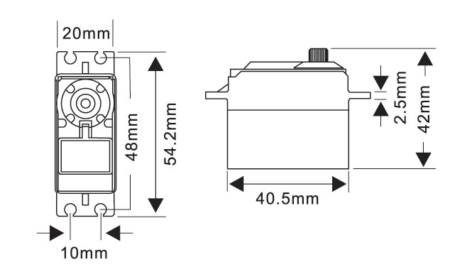 MG5921HV Servo Drawing