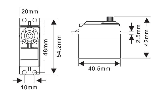 MG5921HV Servo Drawing