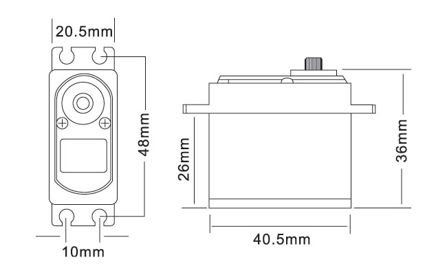 MG7245HV Servo Drawing