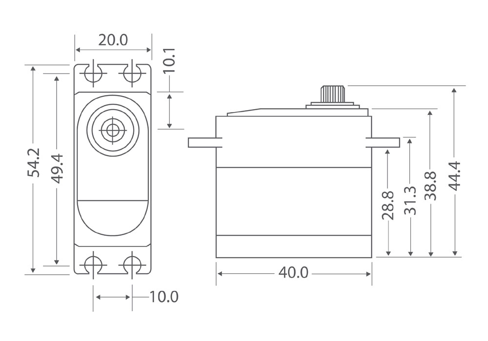 MGB6928HV Servo Drawing