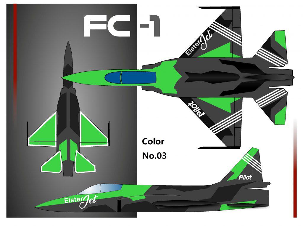 Pilot-RC FC1 3.05m (120in) Composite Jet - Colour Scheme 3