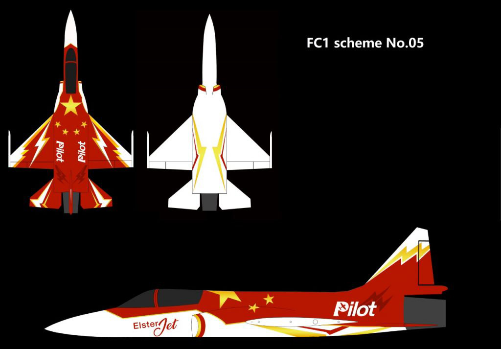 Pilot-RC FC1 3.05m (120in) Composite Jet - Colour Scheme 5