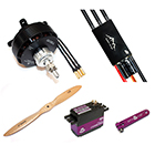 Pilot-RC Power Pack with Servos for 60in Aerobatic Aircraft