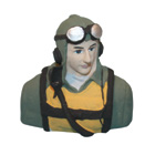Painted Pilot Bust for .46 Size SBD-5/F-82/P-38