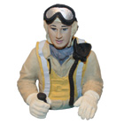 Painted Pilot Bust for 30cc SBD-5/F8F Bearcat