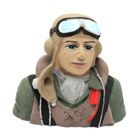 Painted WWII Pilot Bust (Allied) for .60 Size