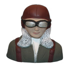 Painted WWII Pilot Bust (Kawasaki Ki-61) for .60 Size