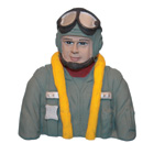 Painted WWII Pilot Bust (FW-190A) for .60 Size