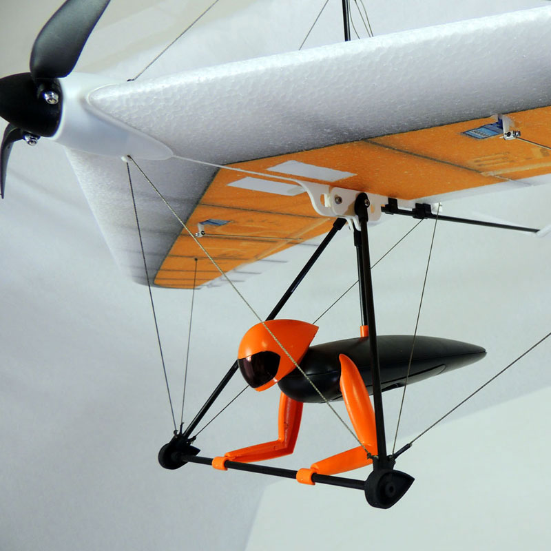 Hacker PUNKAIR WILCO 1.3m Hang Glider (Red) - Click Image to Close
