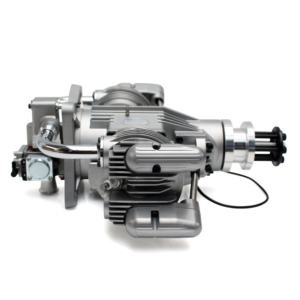 Saito FG-100TS 4-Stroke Twin Petrol Engine - Click Image to Close