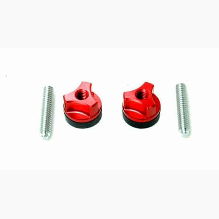 Secraft Wing Bolts 1/4-20 (Aluminium Screw) (Red) - Click Image to Close