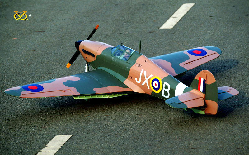 VQ Models Hawker Hurricane 63in Wingspan ARF (EP/GP) - Click Image to Close