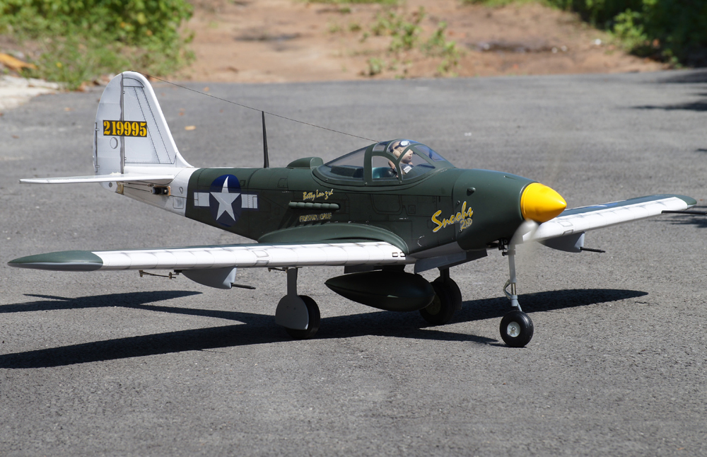 VQ Models P-39 Aircobra 62.2in Wingspan (EP/GP) ARF - Click Image to Close