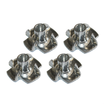 Pronged T Nuts/Blind Nuts M5 (x4)