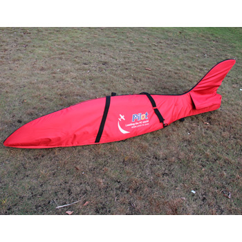 Pilot-RC Fuselage Bag for Predator Jet 2.2m (Red/Black)