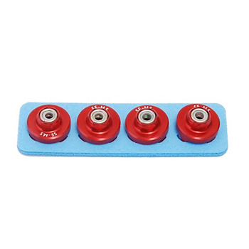 Secraft Wood Lock Nut M5 (Red)