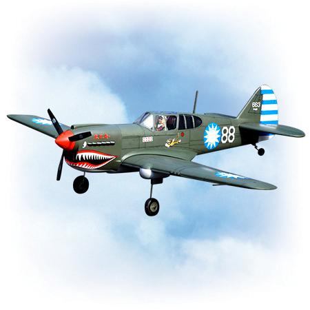 VQ Model Curtiss P-40 Kitty Hawk 60 Size