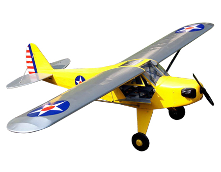 "VQ Models Piper J-3 Cub (US Army) 63.7"" Wingspan (EP/GP)"